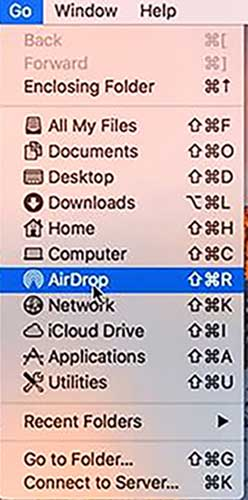 How to Turn on AirDrop on Mac - Mac Desktop Click Go