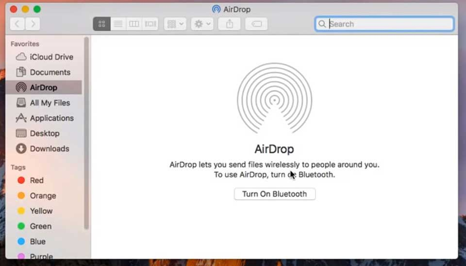 How to Turn on AirDrop on Mac - Turn on Bluetooth