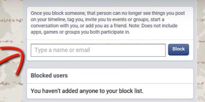 how to block someone on facebook app type block someone on facebook