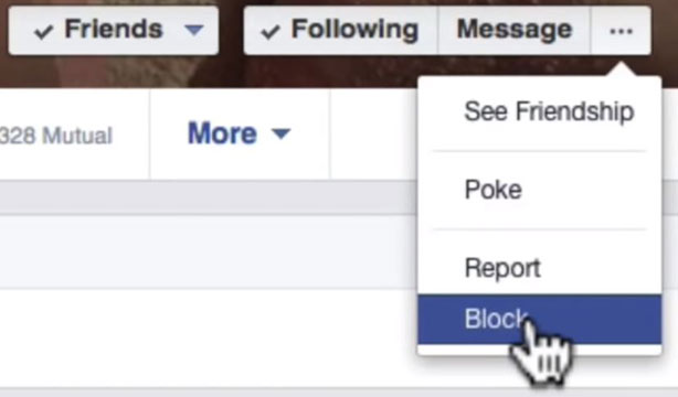 how to block someone on facebook message block