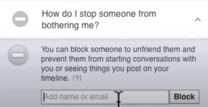 how to block someone on facebook stop someone