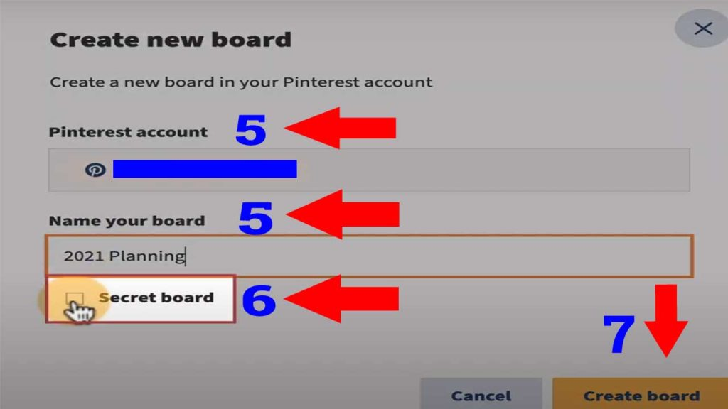 publishing to pinterest with hootsuite saves time because: Create Board