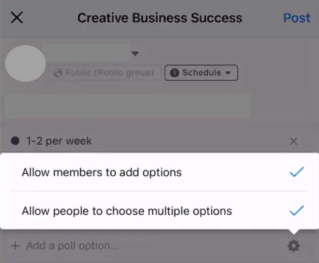 How to Create a Poll on Facebook on Mobile - Allow Members, People