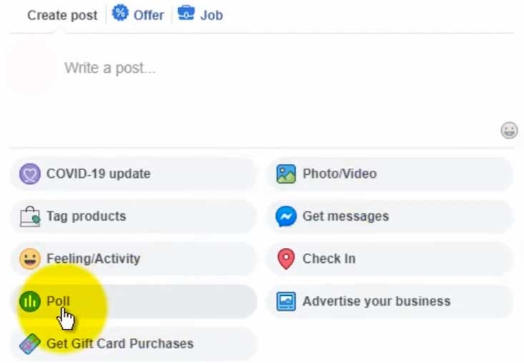 How to Create a Poll on Facebook on Desktop Computer - Poll