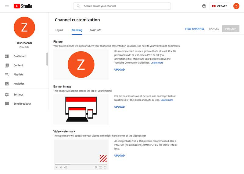 How to Create a YouTube Channel: Channel Customization - Branding
