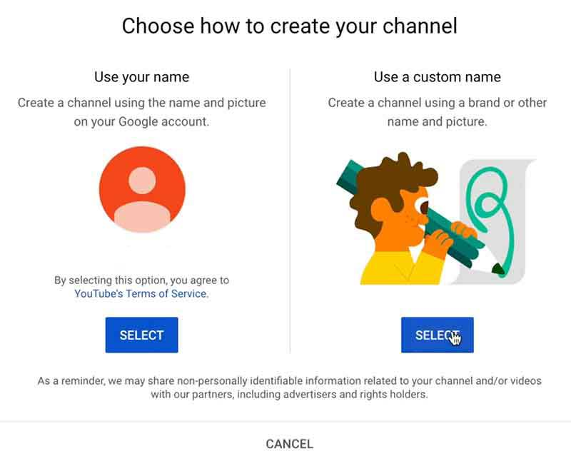 How to Create a YouTube Channel: Create a Channel Personal or Brand