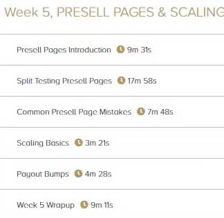 Super Affiliate System Review: Week 5, Presell Pages & Scaling
