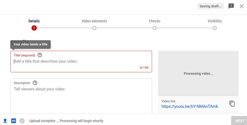 How to Create a YouTube Channel: Upload a Video on YouTube - Add Details