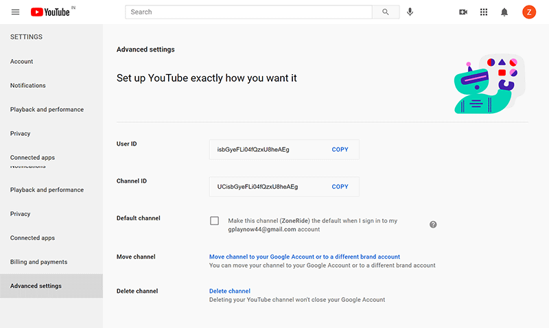 How to Create a YouTube Channel: YouTube Channel Advanced Settings